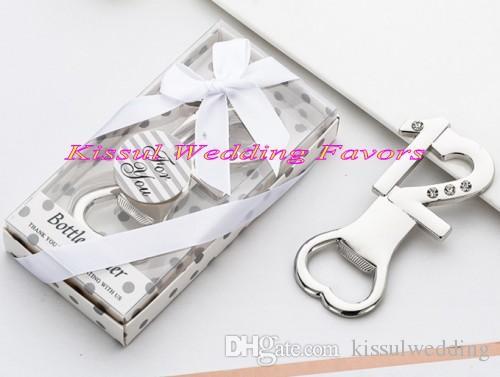 (10 Pçs / lote) 12th Favores Da Festa de Aniversário de casamento de prata e ouro 12 abridor de garrafa favores para 12 anos de idade presentes de aniversário