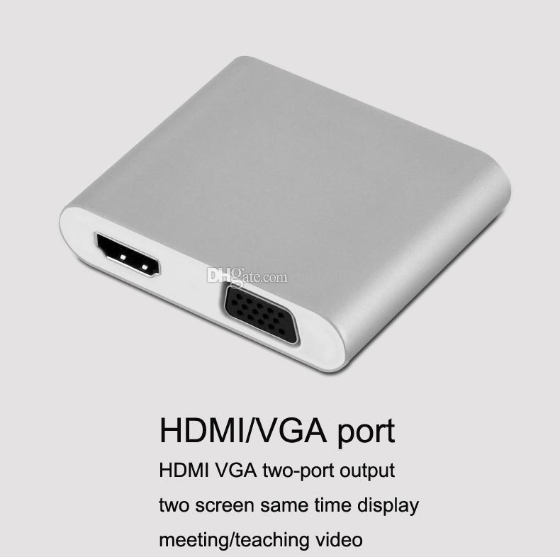 iPhone HDMI VGA AV Adapter, IPad к HDMI VGA AV Adapter Hub конвертер для iPhone Samsung Android телефон