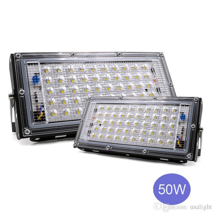 50W LED ضوء الفيضانات LED مصباح الشارع 110V 220V للماء أضواء المناظر الطبيعية الإضاءة IP65 بقيادة أضواء