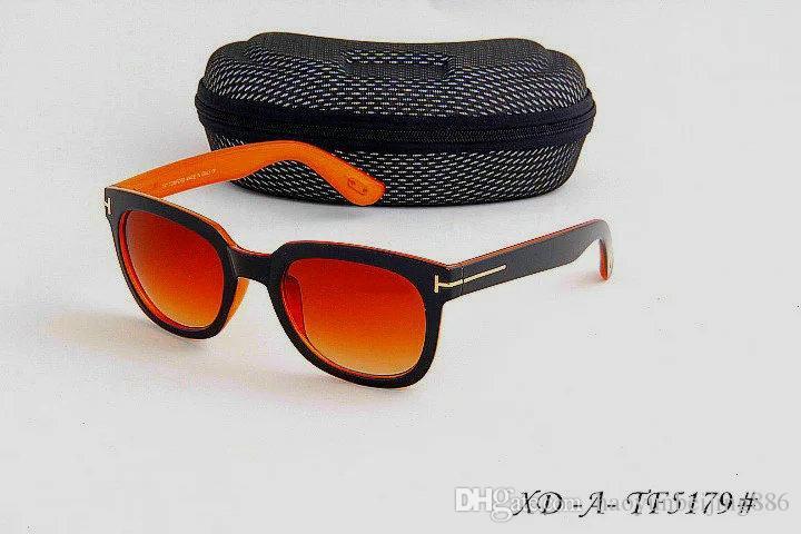 Nuevo top de lujo de gran calidad Nueva moda 211 Tom Gafas de sol para hombre Mujer Erika Gafas ford Diseñador de la marca Gafas de sol con caja original 124