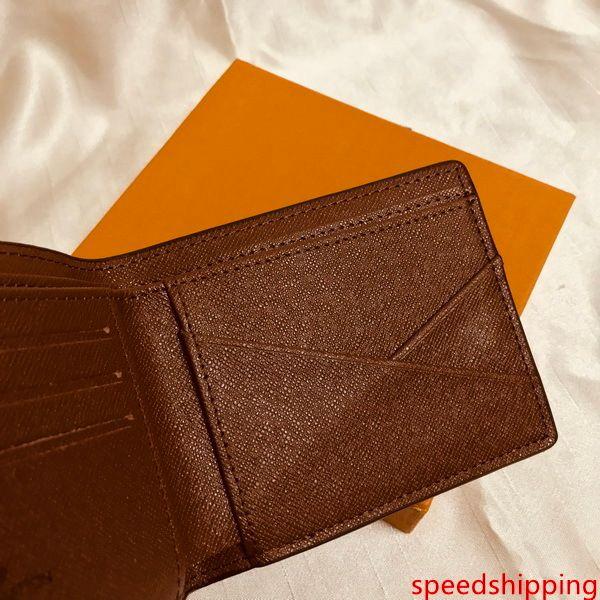 M60895 Lüks Tasarımcı Men s Kısa Kompakt Çoklu Cüzdan Mono Gram Canvers Makbuz Marka Adı Bifold cüzdan Ücretsiz Kargo İyi Kalite