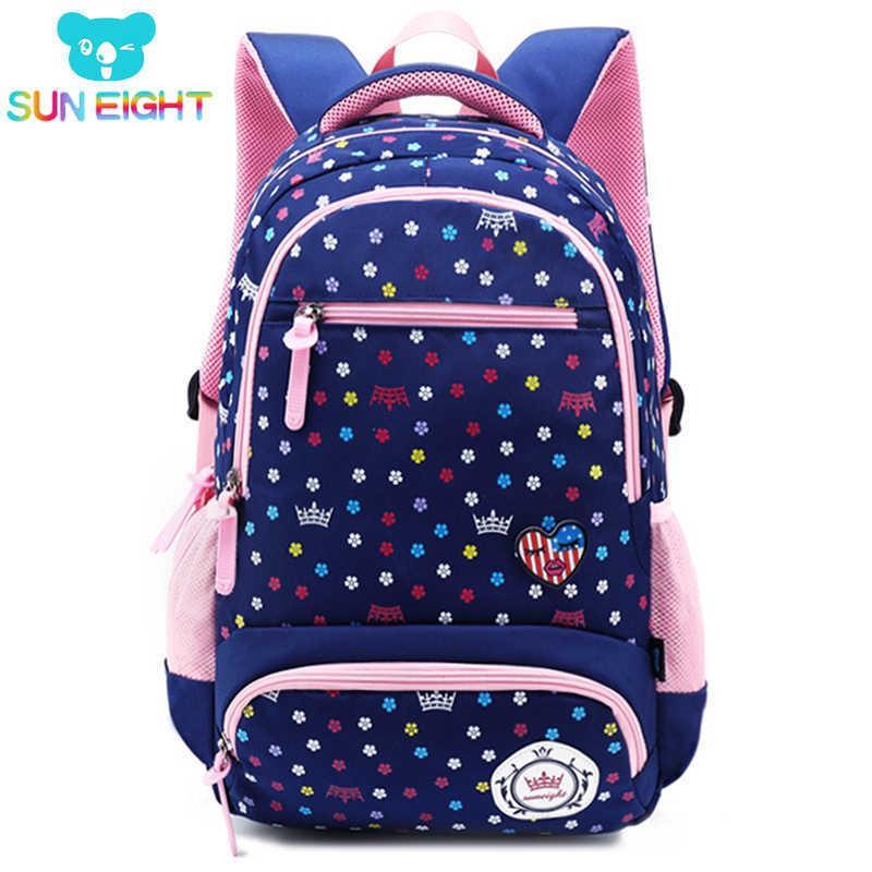 Sun Eight Big Capacity New Daisy Printing Girl School Bag Kid Backpack Zipper Backpacks School Bags For Teenagers Girls Y19051701