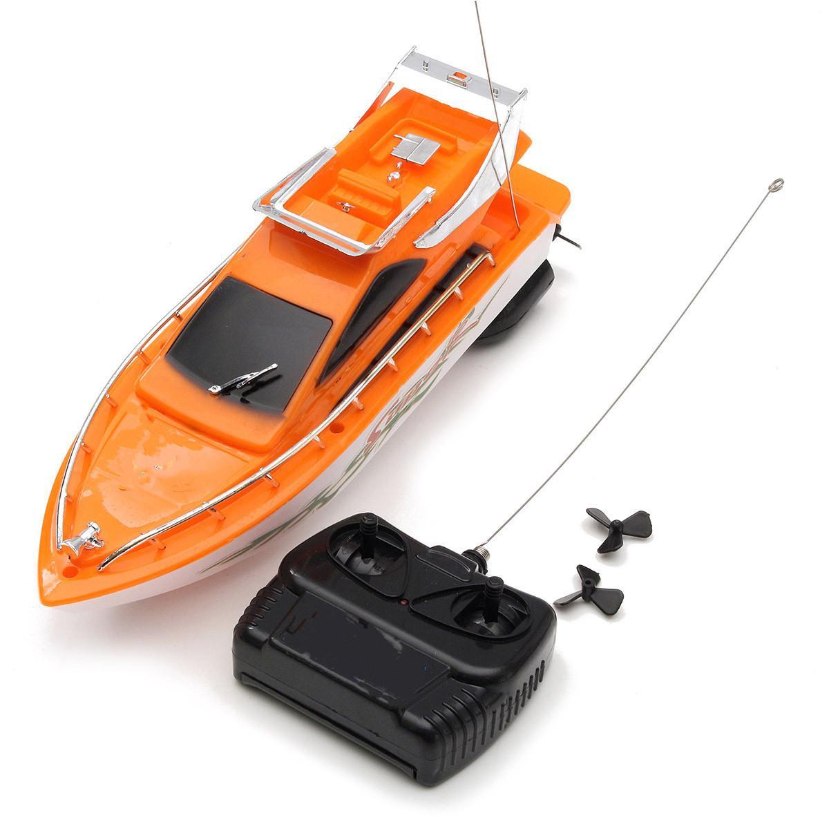 Elettrico a distanza doppia di controllo motore ad alta velocità esterna RC barca di corsa del giocattolo del capretto regali dei bambini Y200414