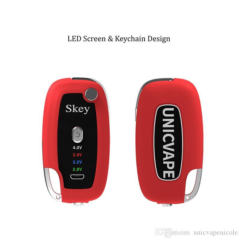 Оптовая брелок Vape аккумулятор со светодиодным экраном, чтобы показать 4 переменное напряжение 500 мАч длительный срок службы масла испаритель