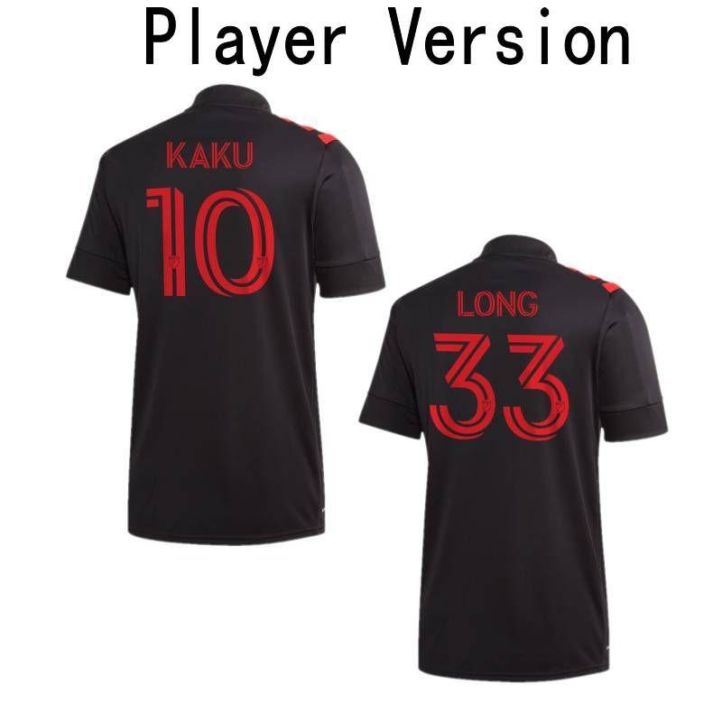 2020 New York Red Player Versiyon Futbol Forma MLS # 42 BEYAZ UZUN anthea Üniforma Mens # 20 SIMS Kaku PARKER Futbol Gömlek
