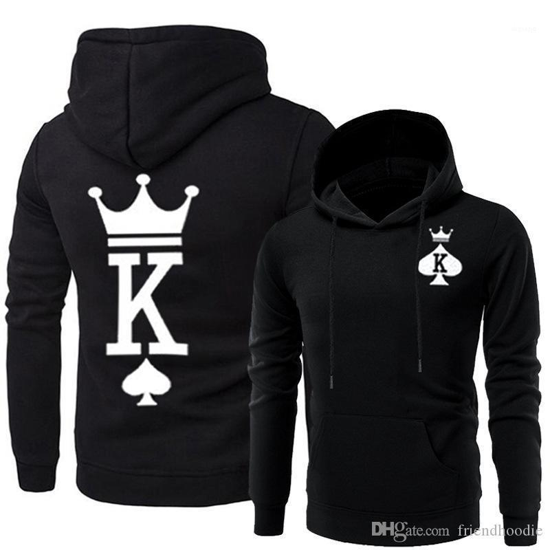 King Hoodies Designer Hooded Sweatshirts Couples Matching Clothes Men Women Queen