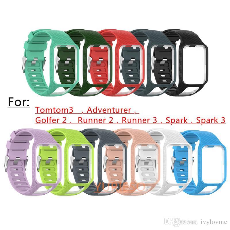 TomTom 2 3 Serisi için yeni Kordonlu Saat Kayışı Silikon TomTom Runner 2 3 Golfçü Için yedek Bilek Bandı Kayışı 2 Adventurer GPS İzle
