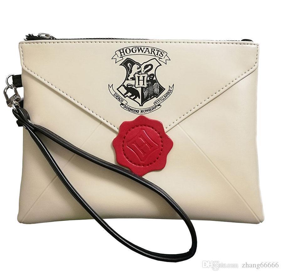 Crazy2019 البوب هاري بوتر رسالة من هوجورتس محفظة المرأة الأساور حقيبة اليد النسائية زيبر الفاصل حزب محفظة أكياس الهاتف