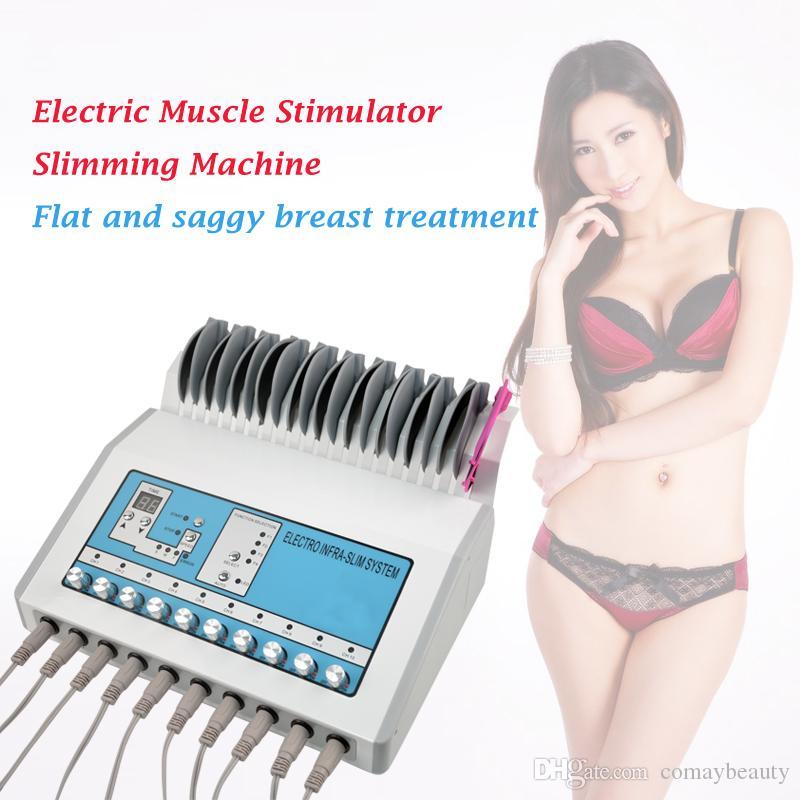 المنتج الساخن EMS آلة محفزات العضلات الإلكترونية الموجات الروسية Ems محفزات العضلات الكهربائية تشمل ثني الثدي ومنصات الوجه
