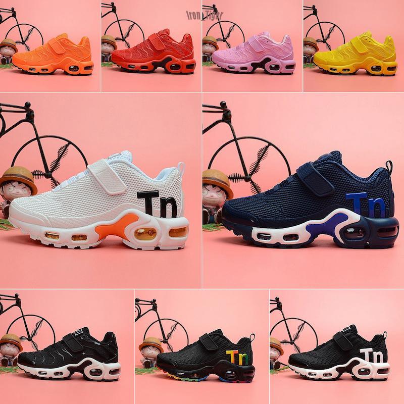 Nike Mercurial Air Max Plus Tn 2019 niños tn Mercurial lujo corrientes de los deportes Zapatos de los niños muchachas de los formadores de TNS Chaussures Diseñador tamaño 11C-3Y