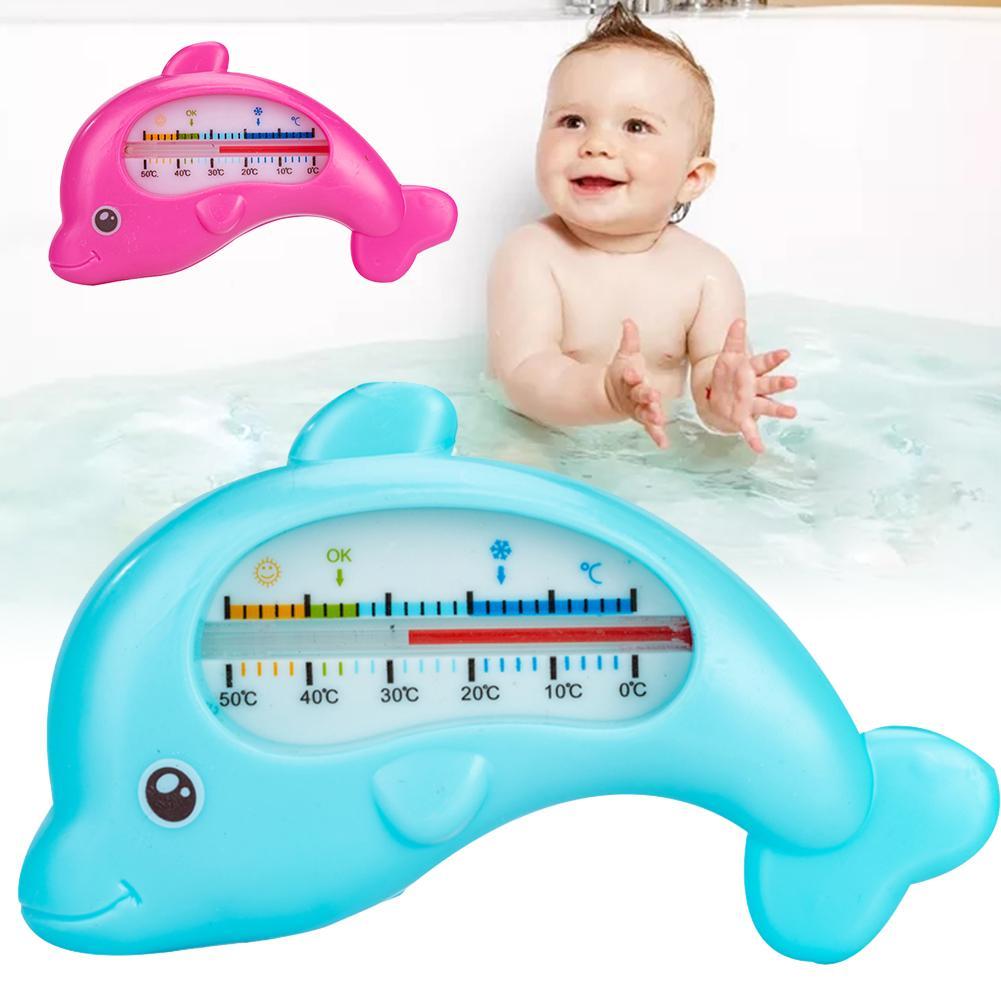 Accessori Funzionamento facile Strumenti Infant termometro dell'acqua del delfino a forma di cura del bambino coperta costume da bagno Tester Doccia Temperatura ABS