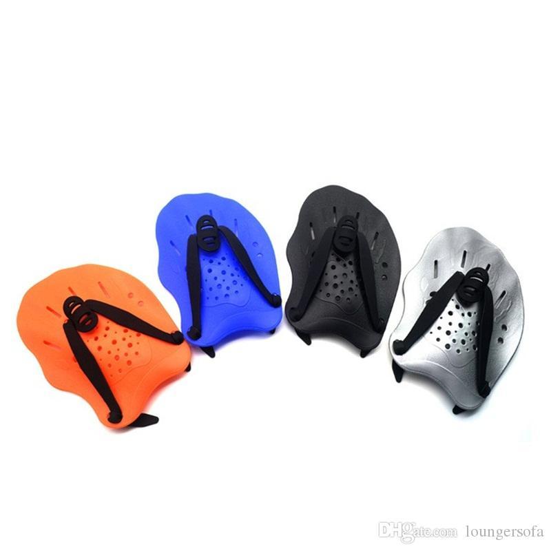 السباحة سيليكون اليد مكفف Webbeds الأطفال الكبار التدريب المهني قفازات أزرق أسود رمادي PC فعال دائم المياه النخيل 15msD1