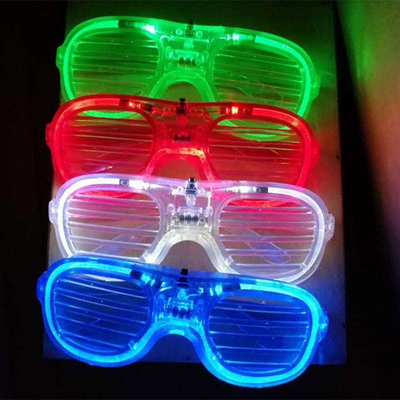 LED Light Glasses Flashing Shutters Shape Glasses LED Flash Glasses Sunglasses Dances Party Xmas Supplies Festival Decoration Gift XD21981