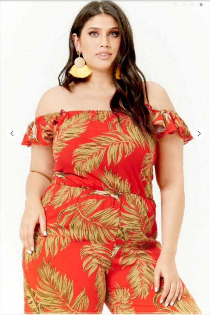 Macacões vermelhos Plus Size Playsuit Macacão Streetwear Womens Jumpsuit Off Boho Boho Bohemian Sexy Femme Roupas Menina Senhoras
