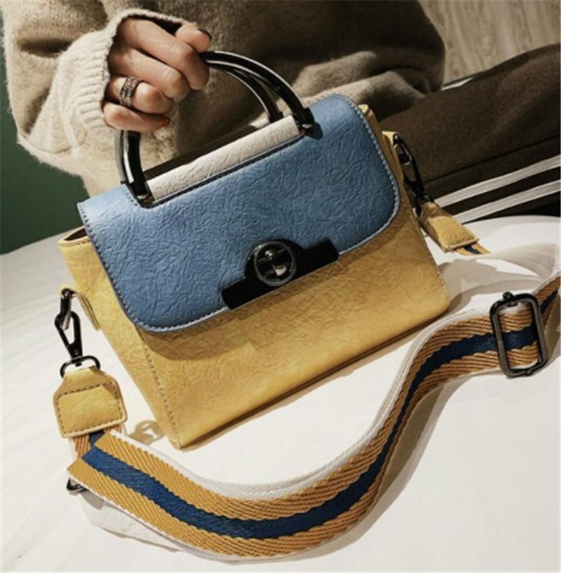 Designer Luxus-Handtaschen-Frauen-Entwerfer-Schulter-Beutel-koreanische Version Small Square Straddle-Schulter-Breite Bügel Einzel-Schulter-Kurier 6