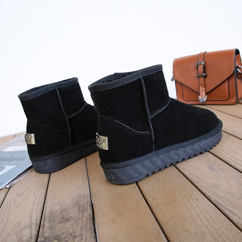 Winter boots women warm shoes snow boot leather Waterproof Non-slip Boots Women Outdoor boot botas mujer 2019 size 35-42