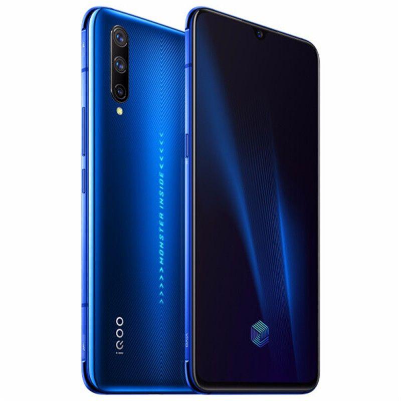 """4G d'origine Vivo iQOO Pro LTE Cell Phone 12Go RAM 128Go ROM Snapdragon 855 plus Octa Android de base 6,41"""" 48.0MP ID d'empreinte Téléphone mobile"""