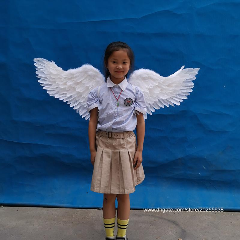 Cute Kids Baby White Angel Wings Feather for Photo And Party Decoration