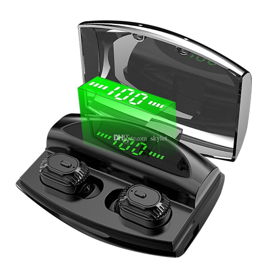 XG-20 Bluetooth Earphones TWS Wireless Earbuds LED Digital Power Display Headphones Waterproof IPX5 with Retail Box