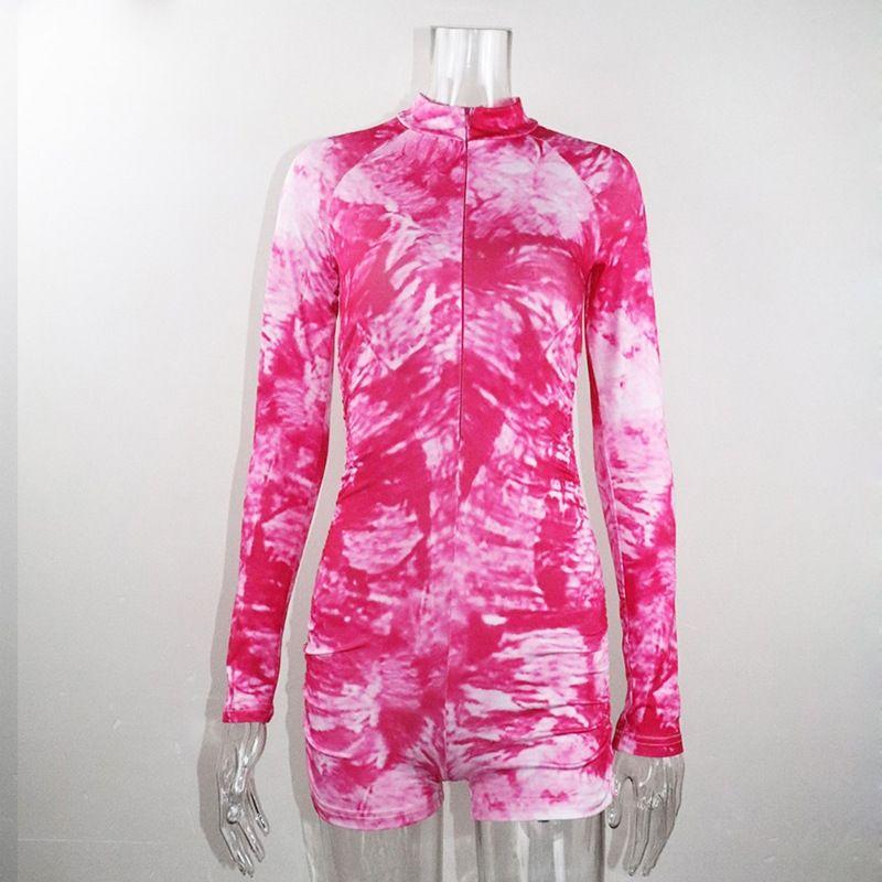 13NDs de Mujeres 2020 ropa nueva ropa de yoga traje de cuello alto con cremallera de yoga impresa manera de la ropa mono de manga larga