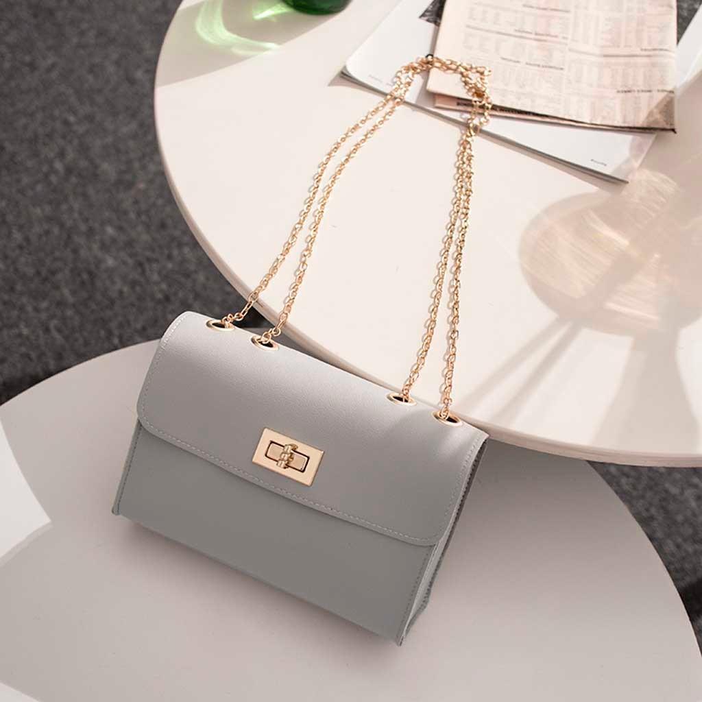 İngiliz Moda Basit Küçük Kare Çanta Kadın Tasarımcı Çanta Pu Zinciri Cep Telefonu Omuz Çantaları Bolsas De Mujer #JHGF