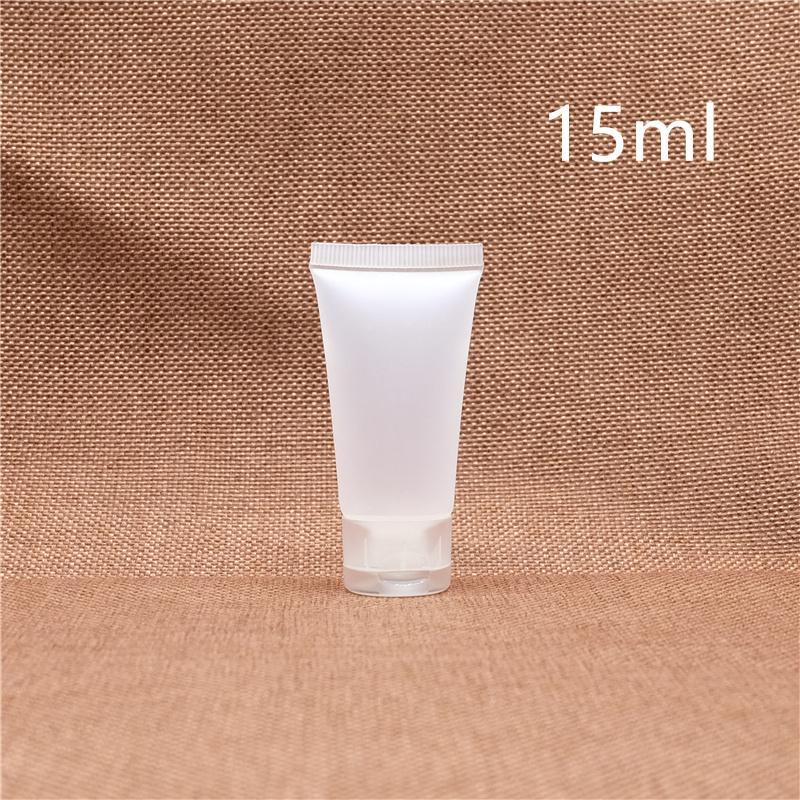 15мл Пластиковые бутылки Косметический крем Empty Молочко для лица лосьон для рук Sample Контейнер Soft Squeeze Tube