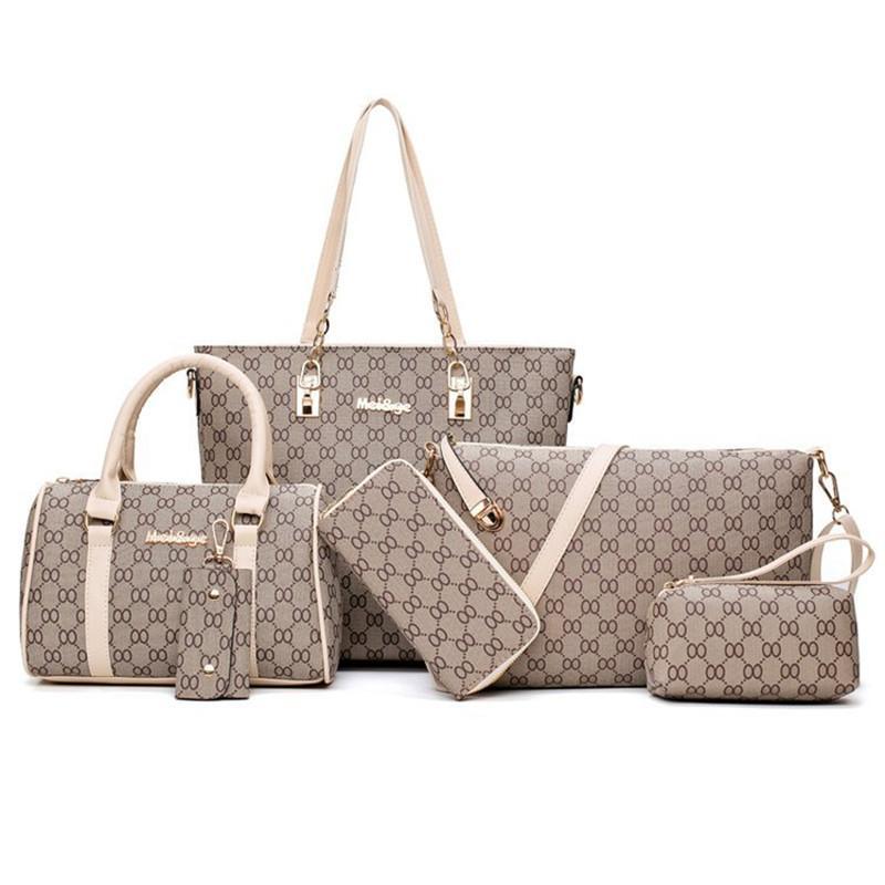 5 couleurs treillis 6pcs / set sac à main de mode cils concepteur sacs à main sac fourre-tout femmes de sac à bandoulière sac à bandoulière messager