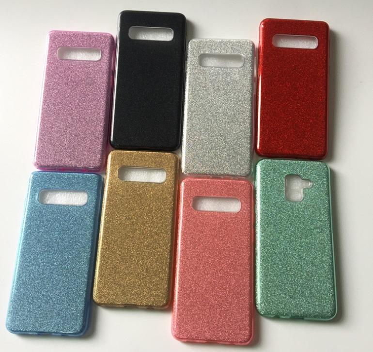 Renkli Yumuşak Kapak Kılıf iPhone XS Max XR X 8 Artı 7 6 6S Samsung Galaxy S9 S8 S10 S10 artı bling