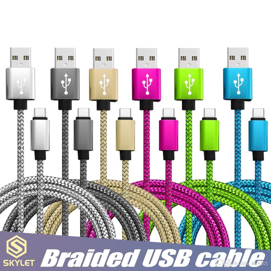 Skylet Câble USB de synchronisation de données de charge rapide téléphonique Câble USB Cordons C Type C Micro USB pour téléphones mobiles Universal