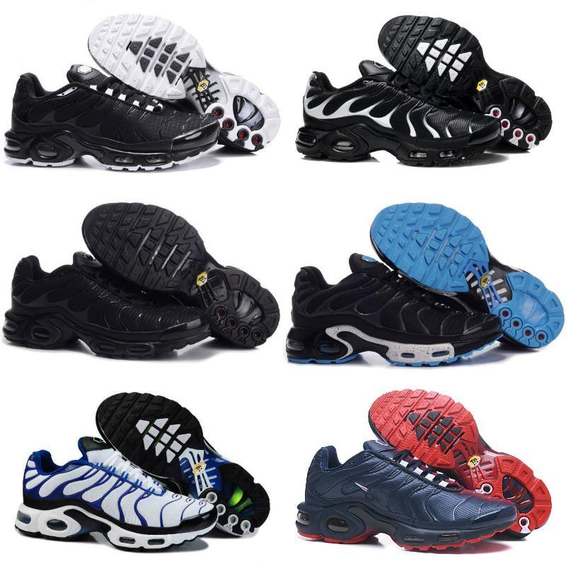 مبيعات 2020 تينيسي أحذية الرجال جديد أسود أبيض أحمر الهواء TN زائد أحذية رياضية فائقة رخيصة أزياء كلاسيكية TNS Requin المدرب أحذية رياضية عادية
