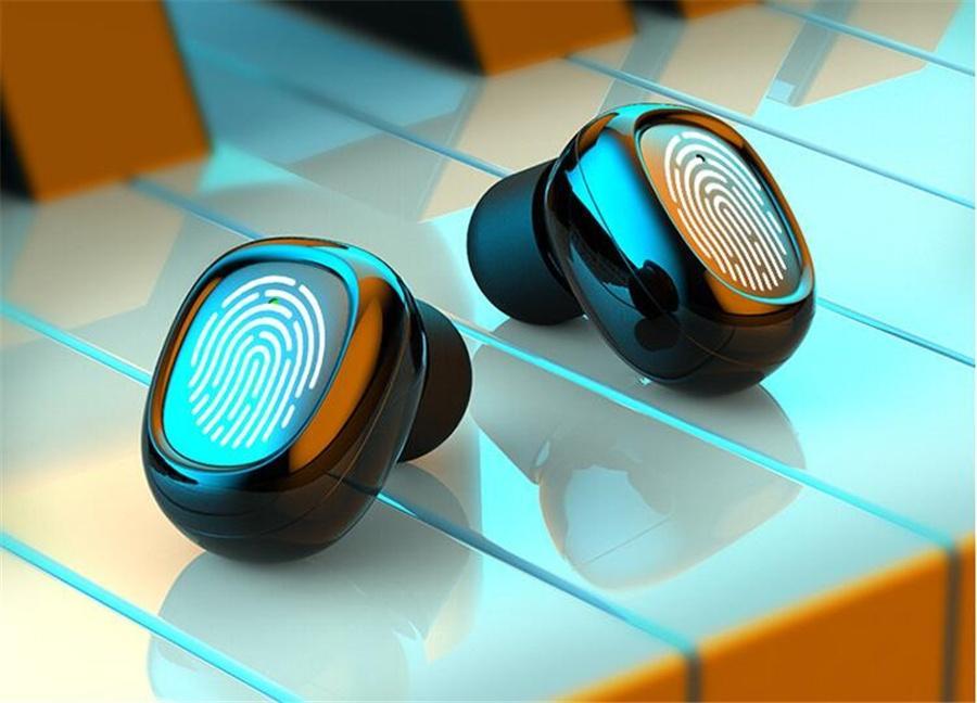 S19 TWS Bluetooth 5.0 Kulaklık Kemik iletimi Kablosuz Kulaklık ile 2000mAh Güç Bankası Stereo kulak Kulaklık Sport Kulaklık 1 1 Adet # OU378