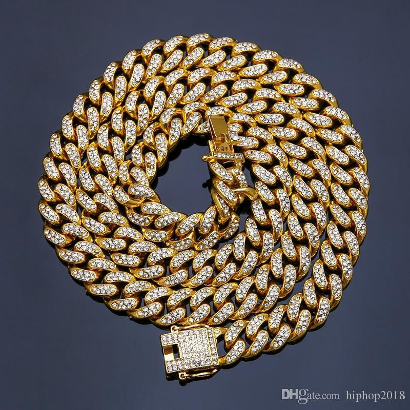 الأزياء المغلفة خارج سلاسل القلائد الهيب هوب بلينغ مجوهرات الرجال 14 كيلو الذهب ميامي كوبان سلسلة رابط