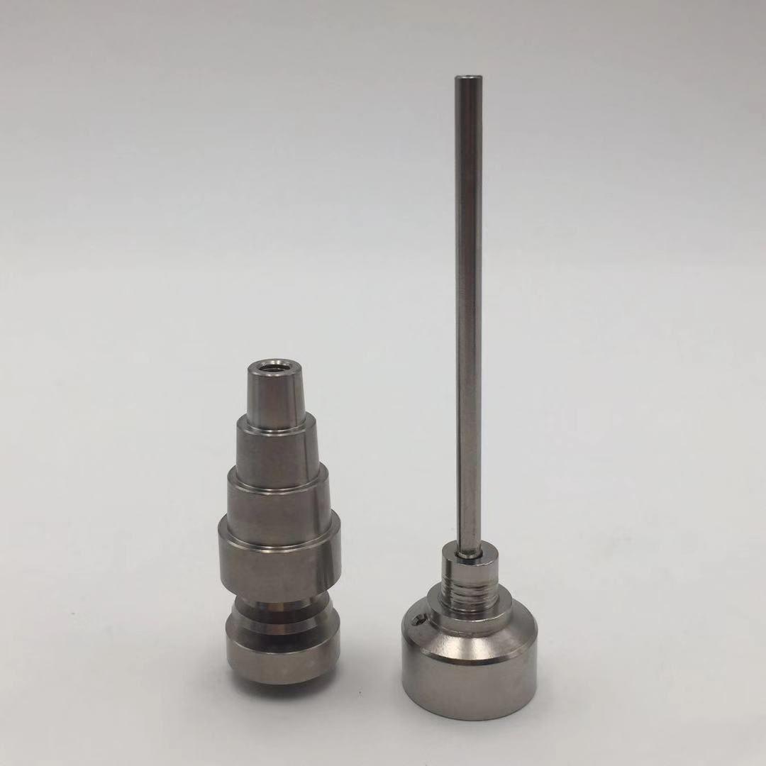 Accessori per fumatori Chiodo senza Domestio Titanio Per Regular Enail Riscaldatore Bobina 6 In 1 Tintaium Nails Tappo Carb per Dab Oil Rigs Bong TN06 + TCC01