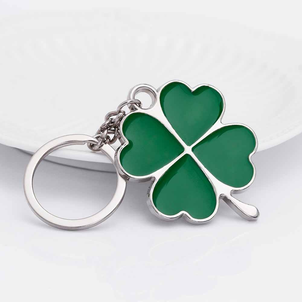 Lucky Idea Stainless High Quality Green Leaf Keychain Fashion