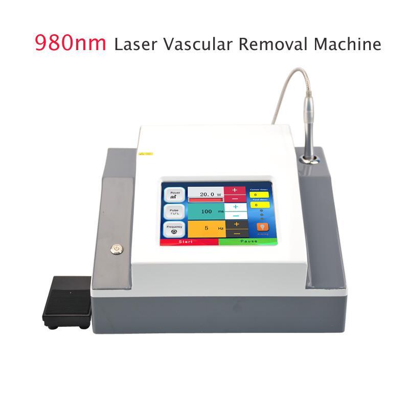 modo de operação Tela tocante de alta qualidade diodo 980nm aranha veia máquina de remoção de cuidados para o rosto removedor vascular