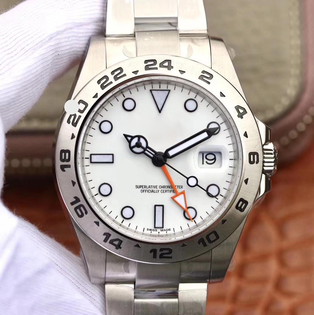 Calendario degli uomini di modo superiore di alta qualità di meccanico automatico Sport Business Orologi 41 millimetri in acciaio inossidabile 316L Diving 30M impermeabile orologio da polso