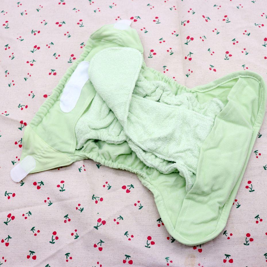 Pañales de tela del paño del bebé DiaperCover reutilizable lavable de los panales del pañal AI2 con bambú Algodón Insertar Prefold Pañal todo en dos