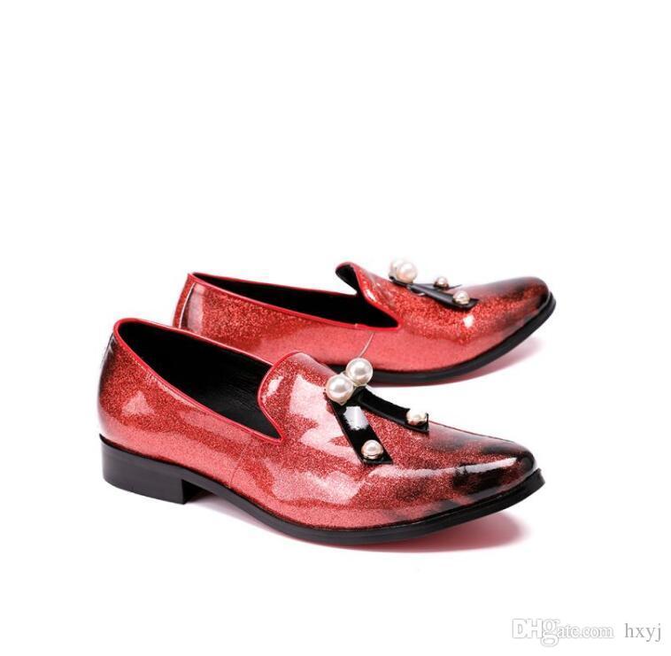 جديد فاخر الشرابة الرسمية المتسكعون النمط الإيطالي التدخين شبشب أحذية الزفاف الرجال اللباس ديربي حزب أحذية جلدية أنيقة H361