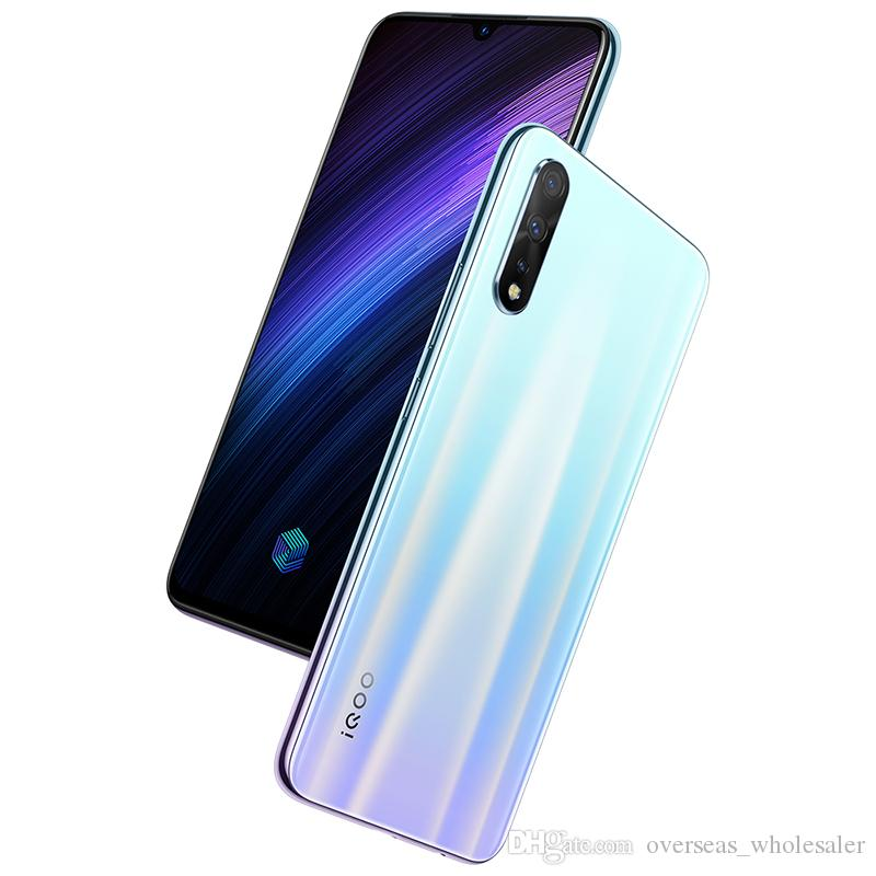 "Vivo d'origine iQoo Neo 855 4G LTE Cell Phone 8 Go de RAM 128Go ROM Snapdragon 855 Octa base Android 6.38"" 16MP ID d'empreintes digitales Visage Téléphone mobile"