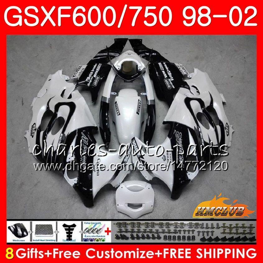 Suzuki katana gsx600f gsxf750 1998 1999 2000 2001 2002 2HC.8 GSXF 750 600 GSX750F GSXF600 98 99 00 01 02 페어링 키트