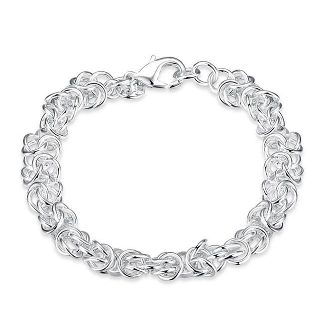 Faucet gamberetti Bracciale - ha aggiunto in argento sterling marchio braccialetto placcato; I nuovi uomini e donne braccialetto in argento 925 SPB073 modo di arrivo