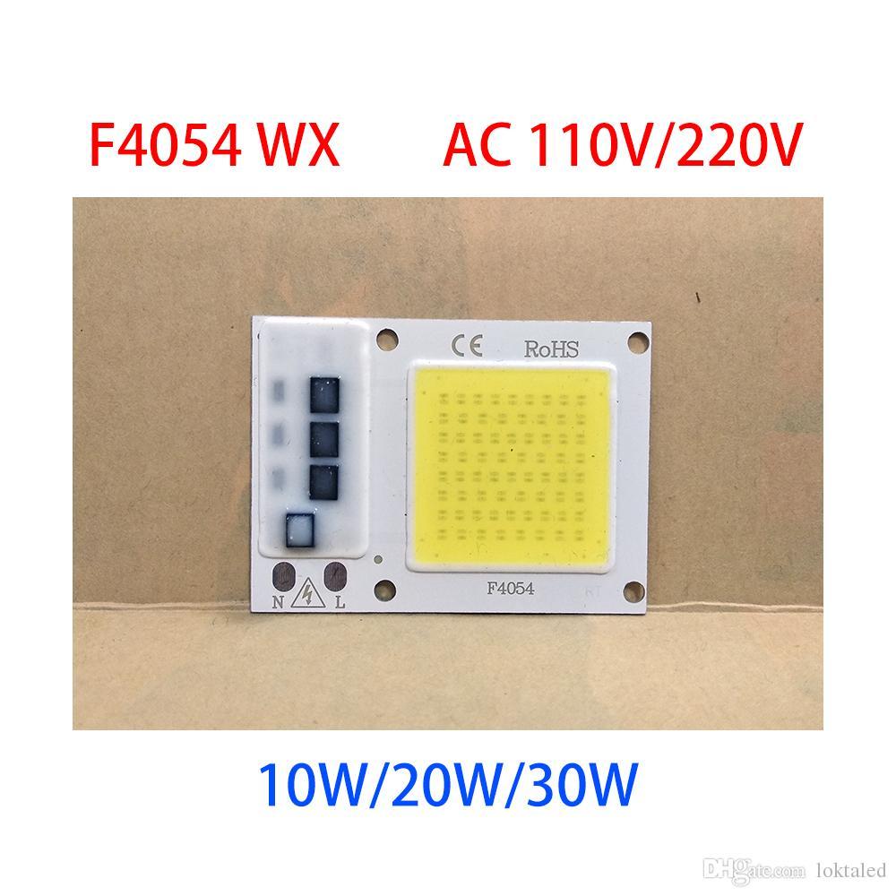 10PCS / LOT LED 50W 220V / 110V 30W 20W 10W الذكية IC لا يوجد برنامج تشغيل الصمام COB CHIP لمبة مصباح للDIY الكاشف أضواء