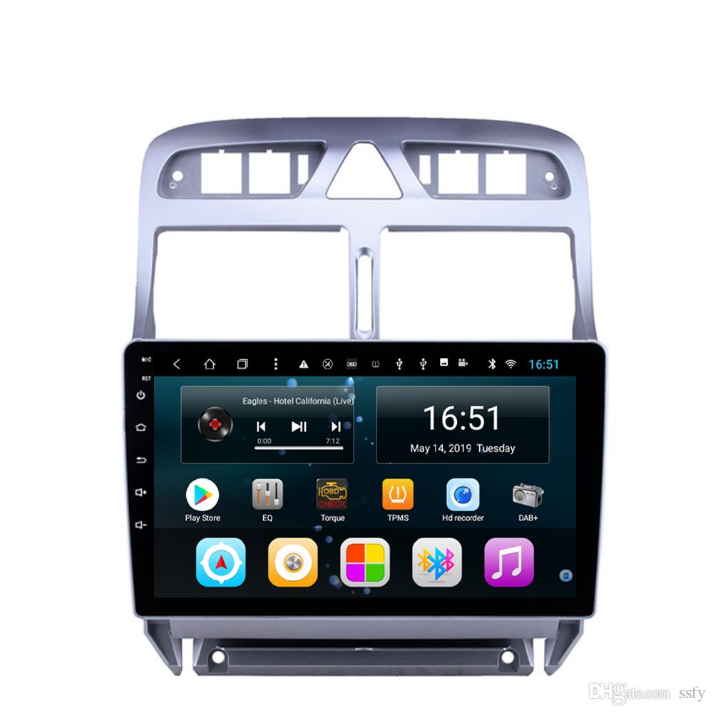 Android 9inch 8-core for peugeot 307 car radio WIFI excellent bluetooth mp3 mp4 music player high quality fast delivery Unit