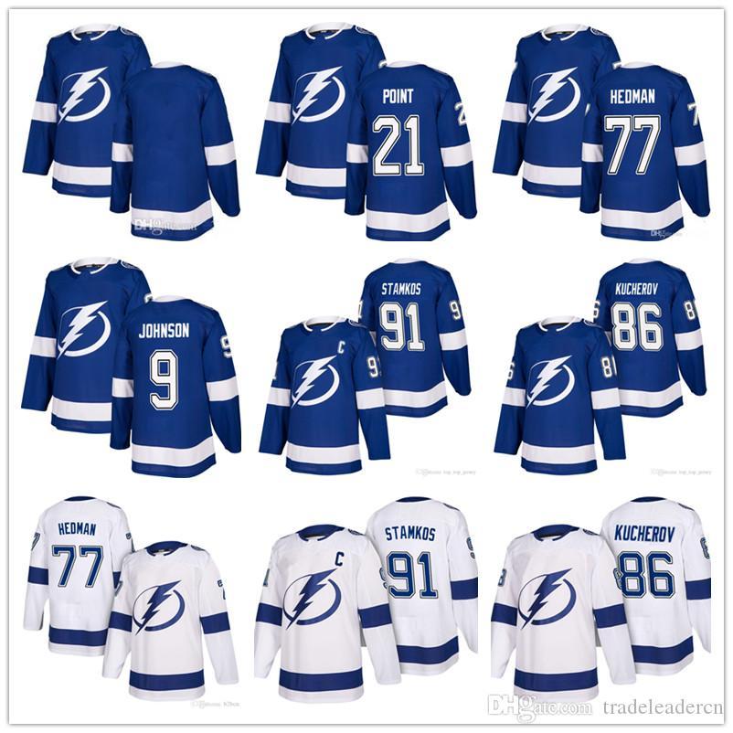 Juventude Mens Lady Steven Stamkos Tampa Bay Lightning Nikita Kucherov Victor Hedman Tyler Johnson Brayden Point Casa Fora Hockey Jerseys