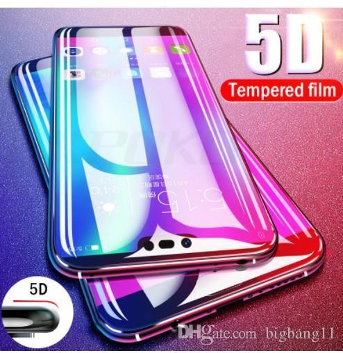 Высокий НОВЫЙ Proelio 5D Круглый Изогнутые Полное Покрытие Закаленное Стекло Для Huawei P20 Pro P20 Lite Защитная Пленка Экрана Пленка Стекло Для P20 Lite Nova 3E