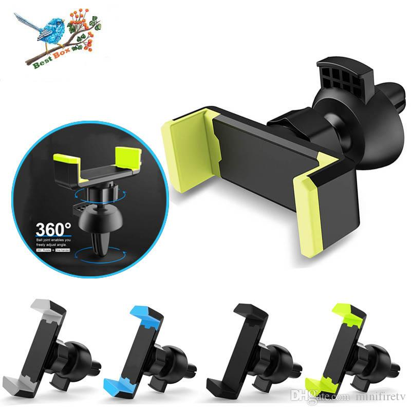 "Universale 360 ​​Rotating Car Holder Air Vent Mount Stand For 3.5 ""-6"" del telefono cellulare per l'iPhone per Huawei Xiaomi Samsung"