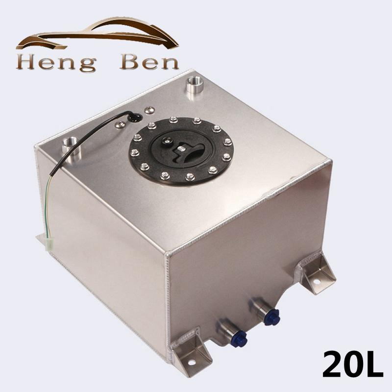 Evrensel Yarışı Drift 20 Litre Yakıt Surge Tankı Girdap Pot Sistemi Alaşım Alüminyum Benzin Kutular