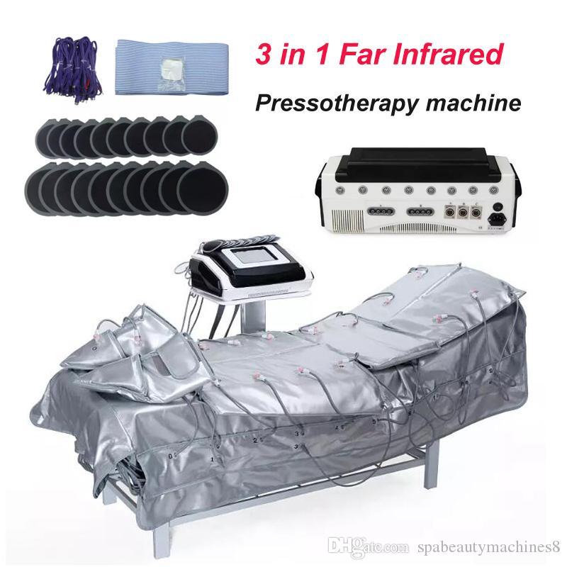 3 en 1 pressothérapie infrarouge lointaine amincissant la machine avec elecyrostimulation ems