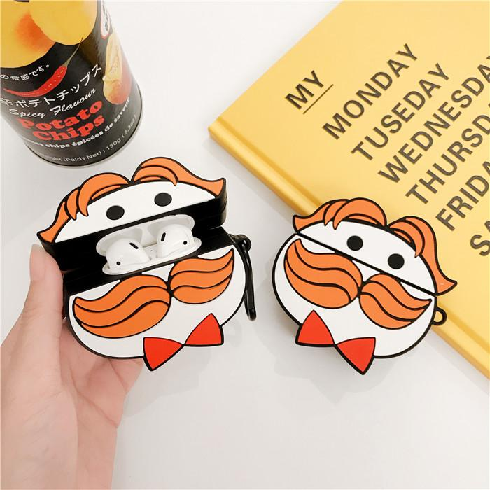2020 Mustache 3d Man Earphone Case For Airpods 1 2 Protective Case