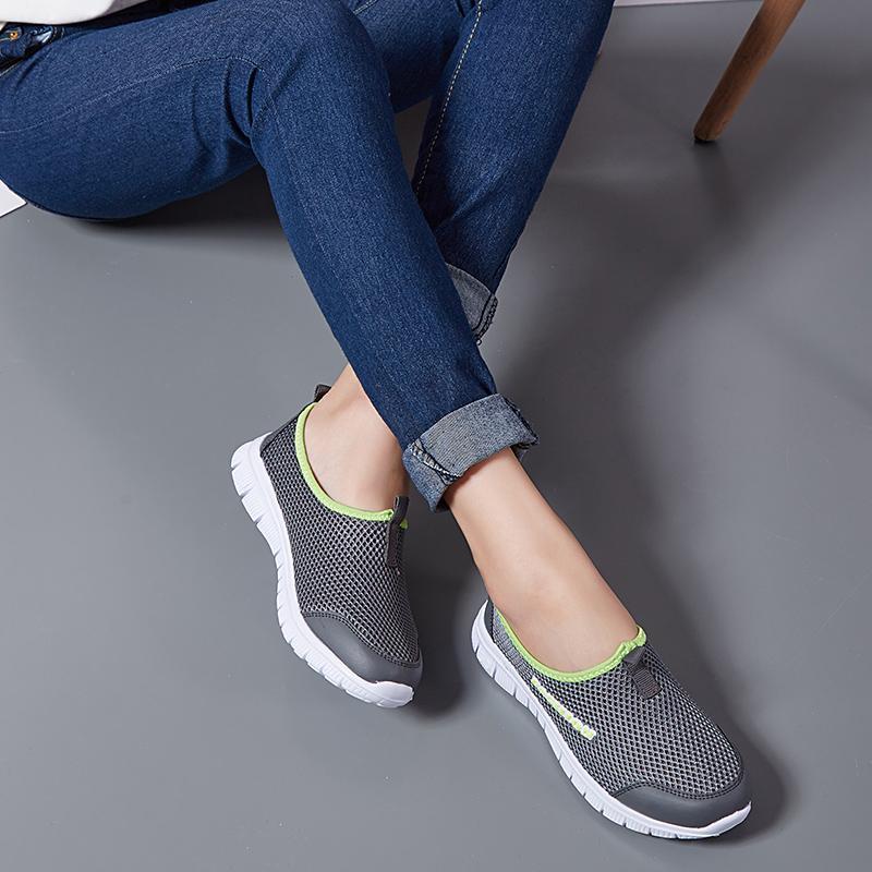 Дышащая сетка Летняя обувь Женщина Комфортные Дешевые Повседневная женская обувь 2020 Новый Открытый Спорт Женщины тапки для Walking